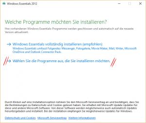 Windows Essentials Installation 1