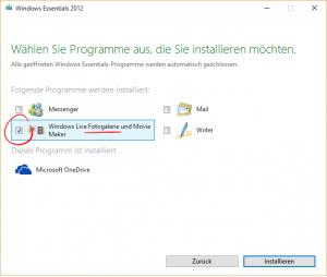 Windows Essentials Installation 2